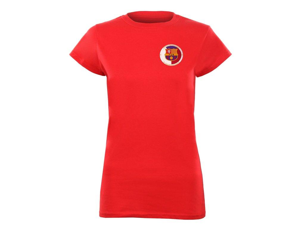 Triko PENYA BARCELONISTA červené dámské - logo na srdci